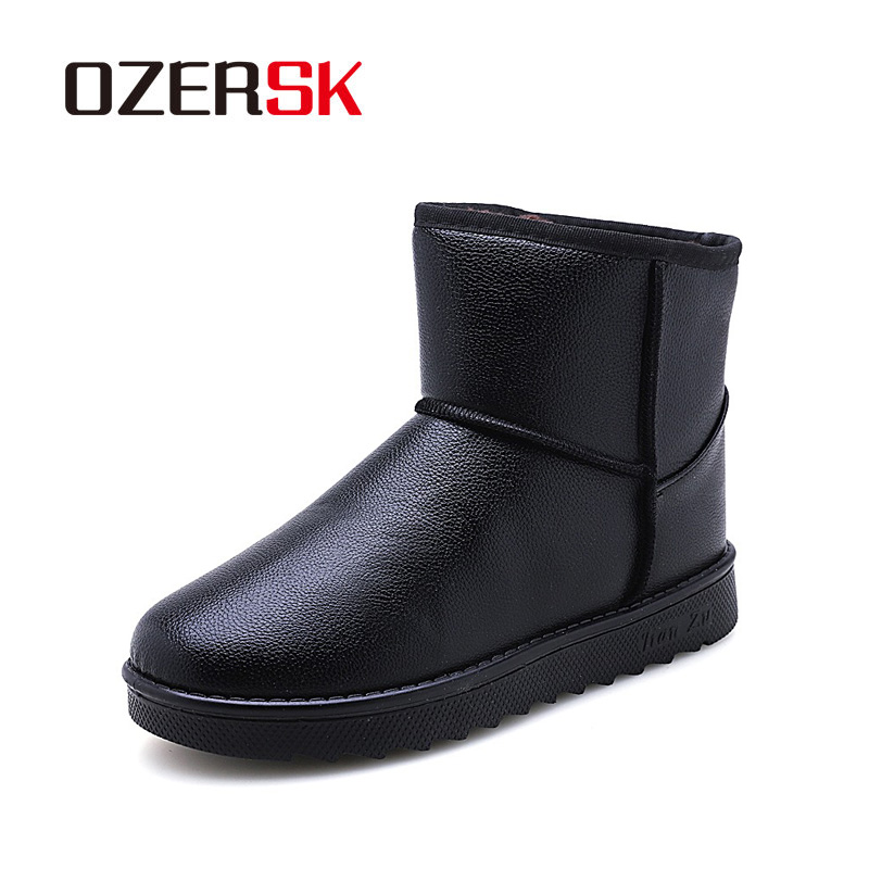 OZERSK Brand 2019 Men Fashion Ankle Boots Winter Autumn Snow Outdoor Waterproof Snow Boots Keep Warm Shoes For Men's Boots