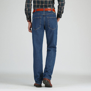 Image 4 - 2019 גברים כותנה ישר קלאסי ג ינס אביב סתיו זכר ג ינס מכנסיים סרבל מעצב גברים ג ינס באיכות גבוהה גודל 28 46