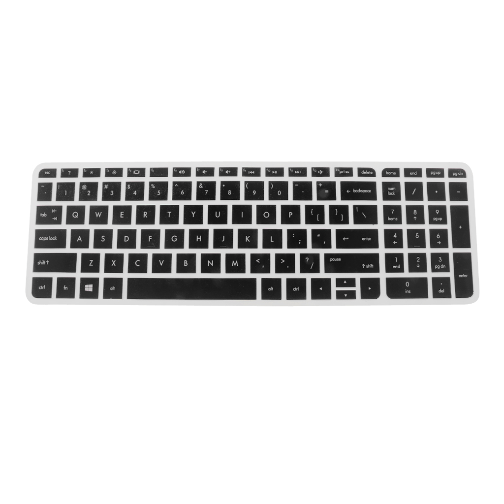 Magideal 2Pcs Silicon Keyboard Cover Notebook Protector for HP Pavilion 15/'/'