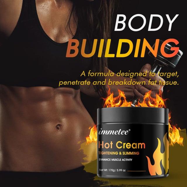 Anticelulitica Sweat Fat Burning Gel -Natural Weight Loss Cream Workout Enhancer For Shaping Waist Abdomen and Buttocks Slimming 3