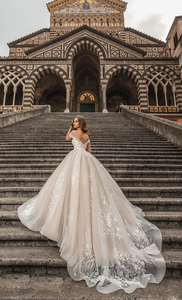 Image 3 - Waulizane Custom Made Link Of Ball Gown Wedding Dresses Off The Shoulder With Gorgeous Lace