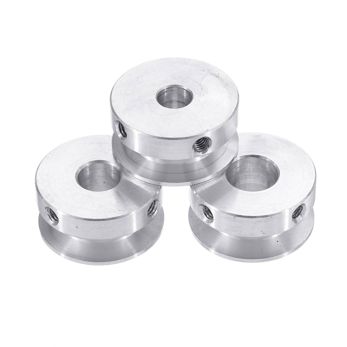 30mm Aluminum Alloy Single Groove Pulley 4-16mm Fixed Bore Pulley Wheel for Motor Shaft 6mm Belt
