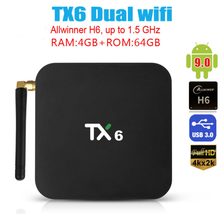 TX6 Dual wifi 6K Media player Android 9.0 Smart TV Box Allwinner H6 Quad Core Set Top BOX Support 3D HDMI IPTV Netflix Youtube android 7 1 smart tv box rk3328 4g 32g ricevitore tv 4 k 2160 p 3d wifi media player play store netflix youtube iptv set top box