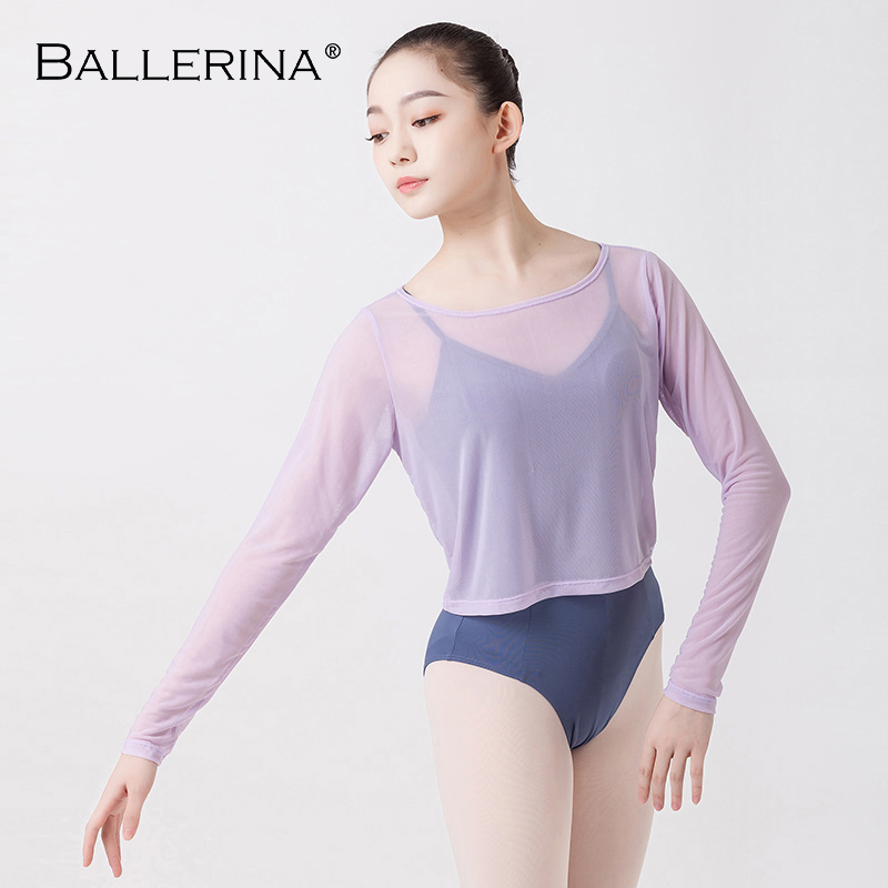 Ballet Dance Out For Women Sexy Dance Sunscreen Gymnastics Outer Jersey Long Sleeve Bottoming Shirt Ballerina 6500