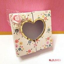 صندوق هدايا القلب قطع معدنية يموت الإستنسل لديي سكرابوكينغ ختم/ألبوم صور النقش الزخرفية Cards بها بنفسك ورقة بطاقات