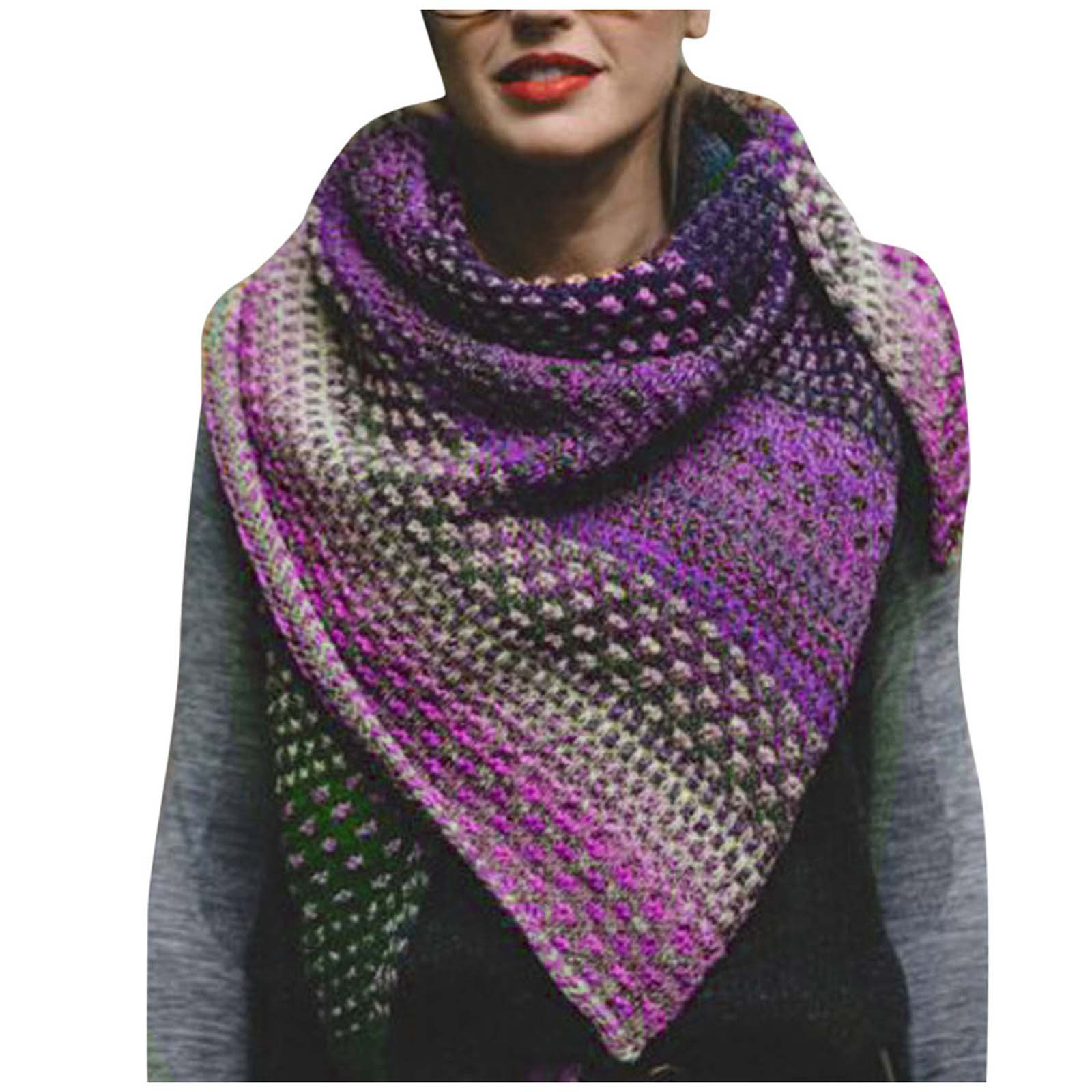 2020 Scarf Women Winter Warm Sided Colorful Color Crochet Thickened Knit Soft Shawl Scarf шарф женский зимний