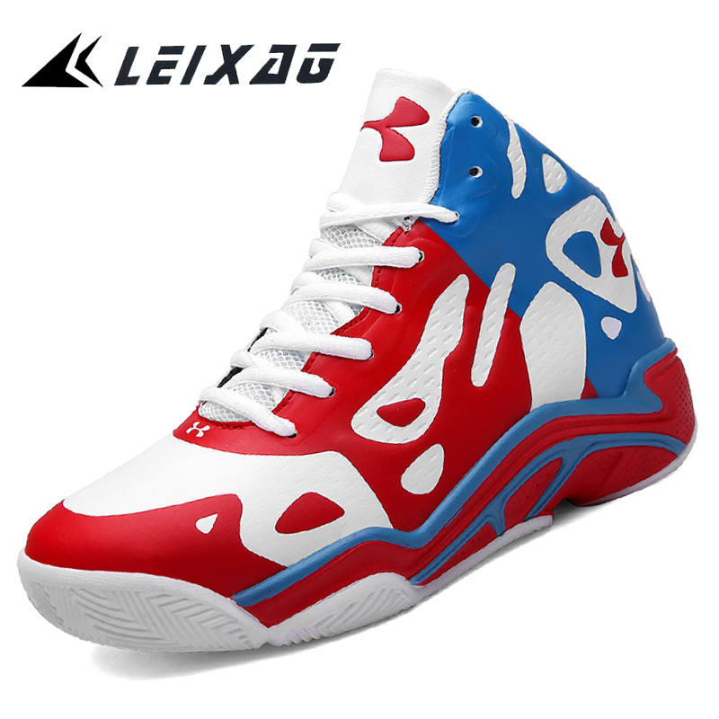 LEIXAG High top Men Basketball Shoes Cushioning Lightweight Basketball Sneakers Anti skid Breathable Outdoor Sports Jordan