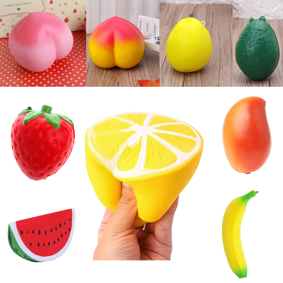 Slow Rising Squishy Hand Pillow Toy Stress Relief Sweet Scented Fruit Charm Gai