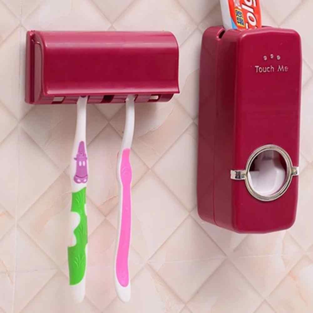 Badezimmer Zubehör Set Zahnbürste Halter Automatische Zahnpasta Spender Halter Zahnbürste Wand Montieren Rack Bad Tools Set
