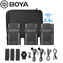 BOYA BY WM4 Pro K1/K2/K3/K4/K5 2.4G Wireless Microphone Vlog for DSLR Camera Smartphone for Canon Nikon iOS iPhone 12 Phone Mic