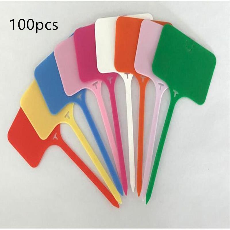 100PCS T Type Label Waterproof Record Plate Nursery Premium Label Plastic Plant Garden Plant Pot Planter Vegetable Label Tag
