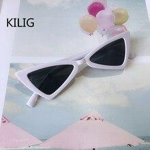 KILIG Cat Eye Kids Sunglasses Fashion Brand Child Sun Glasses Anti-uv Baby Sun-s