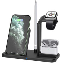 3 in 1Wireless charger Fast Charging Dock Station For iphone 12 11 Xs AirPods Pro Watch 6 SE 5 4 3 QI Wireless Charger Stand