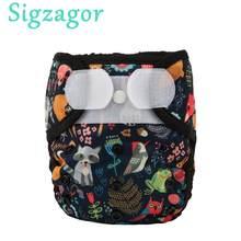 Cubierta de pañal de tela para bebé, gancho y bucle doble, sin bolsillo, 3-15kg, 1 unidad