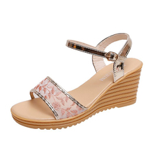 HEFLASHOR ladies shoes Chaussure summer sandals shallow flat cross section high heels zapatos de mujer