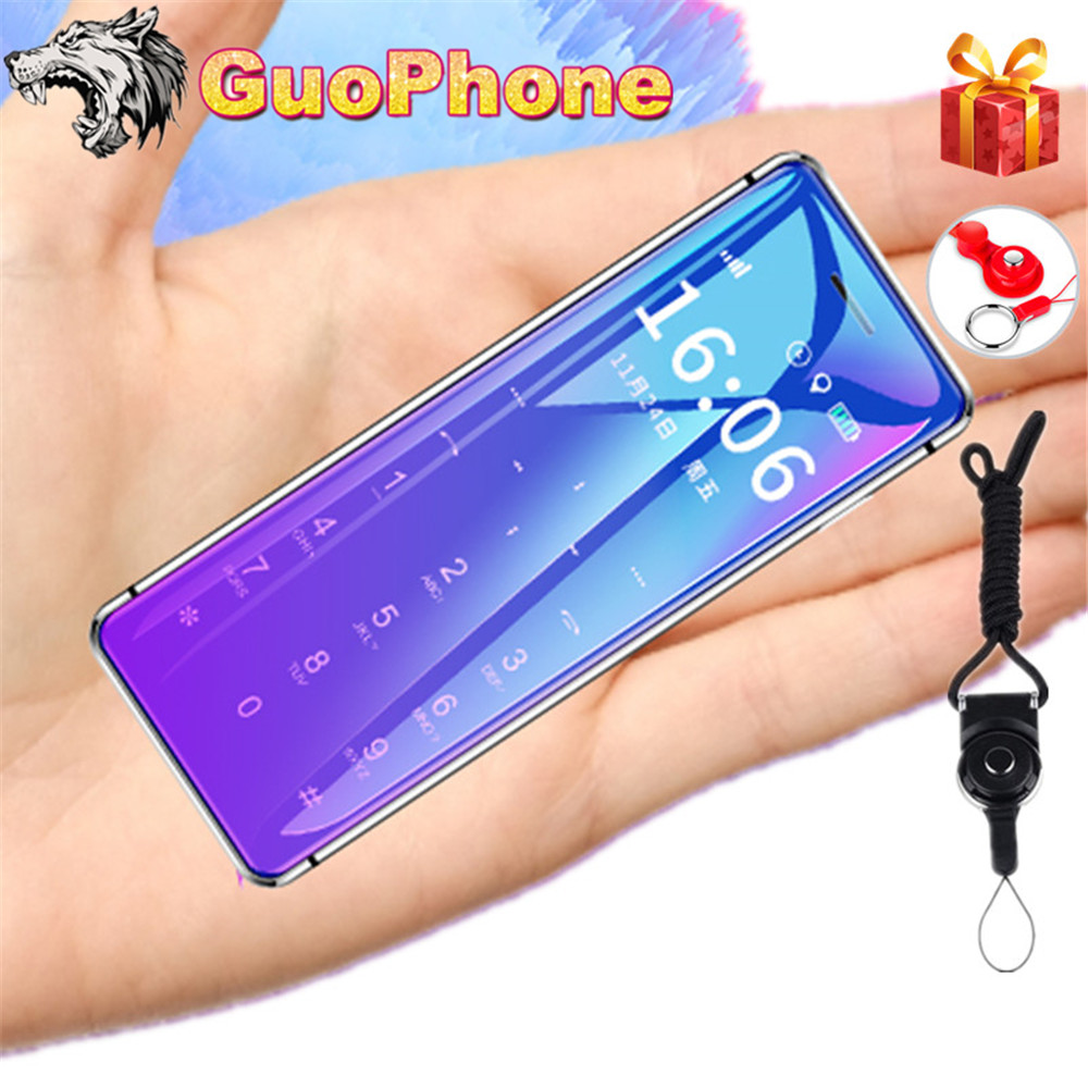 ULCOOL V99 Mobile Phone With Super Mini Ultrathin Card Metal Body Bluetooth 2.0 Dialer Anti-lost FM MP3 Dual SIM Card Mini Phone