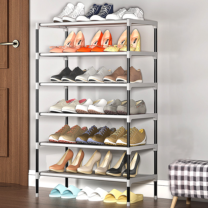 Simple Multilayer Shoe Rack Non-woven Iron Assembled Shoe Cabinet Hallway Dustproof Shoe Organizer Living Room Shelf Furntiure
