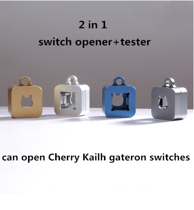 1pc 2 In 1 Mechanical Keyboard CNC Metal Switch Opener Shaft Opener For Kailh Cherry Gateron Switch Tester
