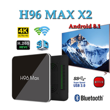 Netherlands smart tv set top box H96 MAX X2 android8.1 tv box Amlogic S905x2 4GB 64GB Quad Core Smart media player H96MAX smart tv box android 8 1 h96 max x2 amlogic s905x2 4k media player 4gb 64gb h96max ddr4 tv box quad core 2 4g