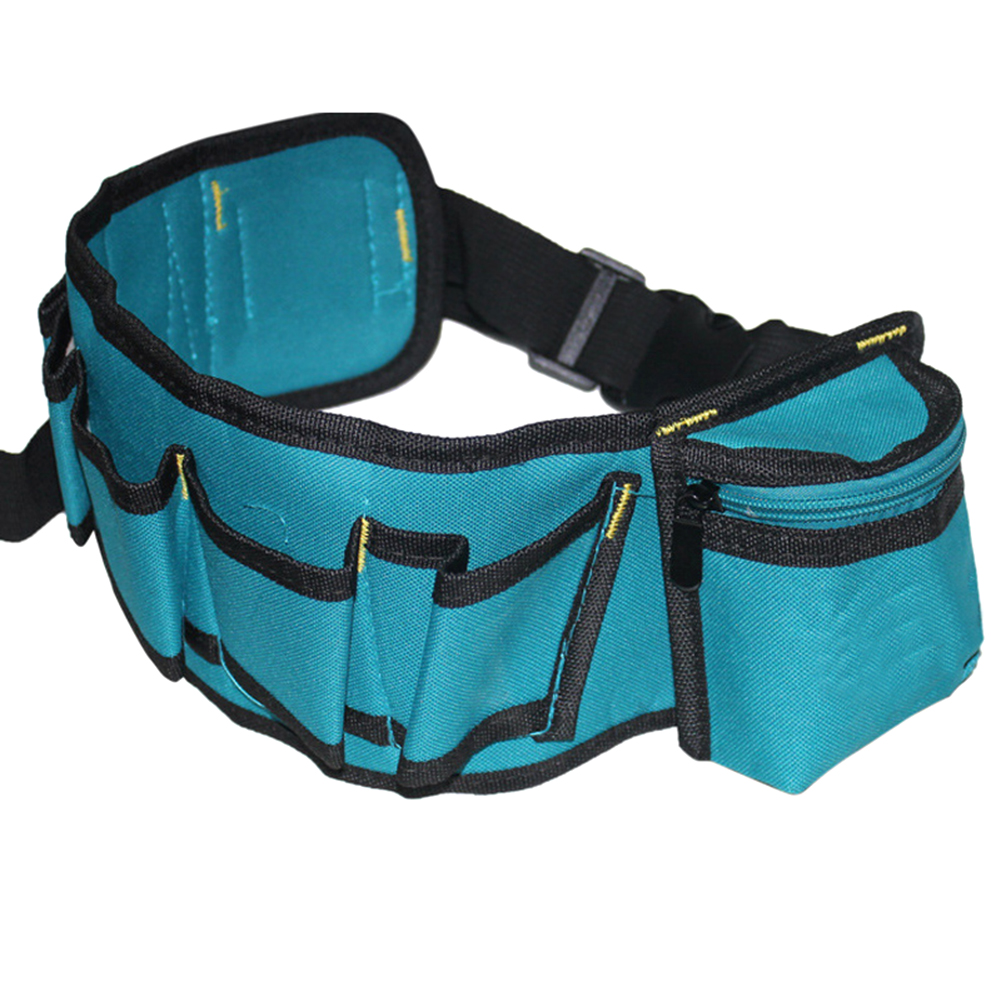 Multifunctional Tool Waist Bag Oxford Waterproof Pockets For Electrician Repairing 53cm/20.87 Inch--M25