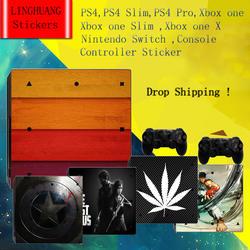 Виниловые наклейки для PS4/PS4 Slim/PS4 Pro/X box one/One Slim/One X/Switch консоль и контроллер