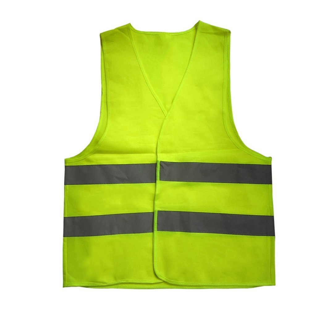 High Visibility Yellow Vest Reflective Safety Workwear For Night Running Cycling Man Night Warning Working Clothes Fluorescent
