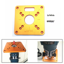 120x120mm Aluminum Router Table Insert Plate for Woodworking Benches Trimmer Engraving Machine MAKITA RT0700C WORX Aoben cheap toohr Combination Wood Working Tool 120x120x8mm 56x45mm 70x62mm