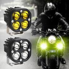 Barra de luz led para coche, luz de 3 pulgadas, 12V y 24V, para carro, amarillo, lámpara, 4x4, fora, estrada, motocicleta, catores, luze
