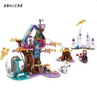 378PCS Friends Magic Snow Princess Tree House Building Bricks Figure DIY Toys Compatible Legoinglys Girls Friends For Children