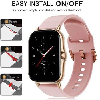 YAYUU 20mm Silicone Watch Strap for Huami Amazfit GTS GTR 42mm Bracelet for Huami Amazfit Bip U Bip S GTS 2 Watch Bands 2