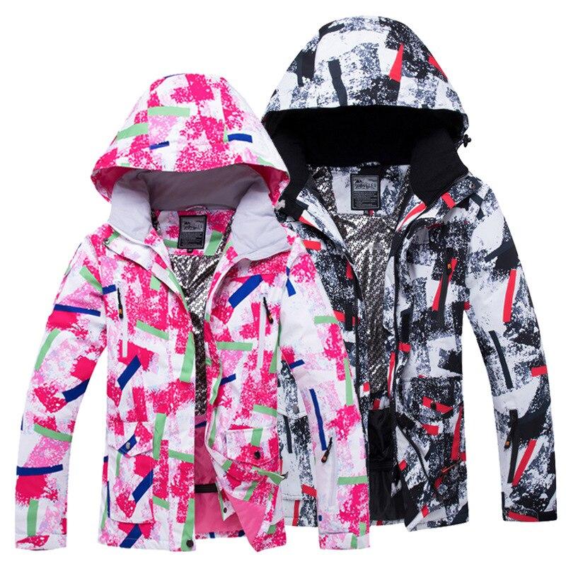 Зимняя Лыжная куртка для мужчин и женщин Водонепроницаемая зимняя куртка с теплой подкладкой дышащие ботинки лыжный сноуборд куртка