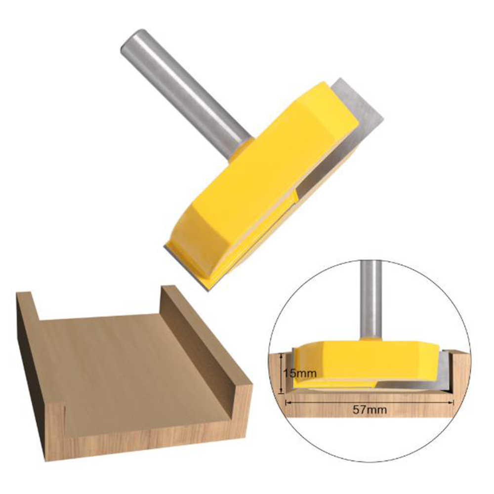 Alloy Tipped Router Bit 8mm Shank CNC Spoilboard Surfacing Woodwork Milling Tool