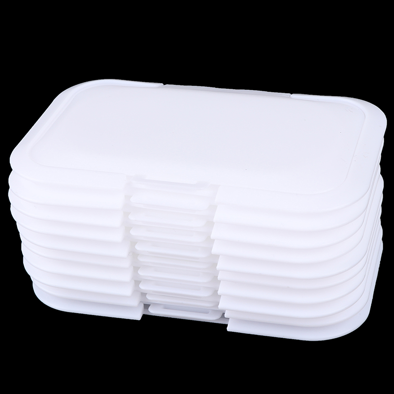 5pc/set Reusable Lid Cover Baby Wipes Lid Baby Wet Wipes Cover Portable Child Wet Tissues Box Lid Mobile Wipes Wet Paper Lid