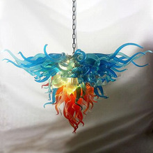 Flower Italy Designer Hand Blown Murano Glass Chandelier Colorful Art Deco Modern Festival LED Light Fixtures