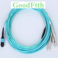 Fiber Patch Cord Patchcord MPO SC Multimode OM3 4 Cores GoodFtth 20 100m