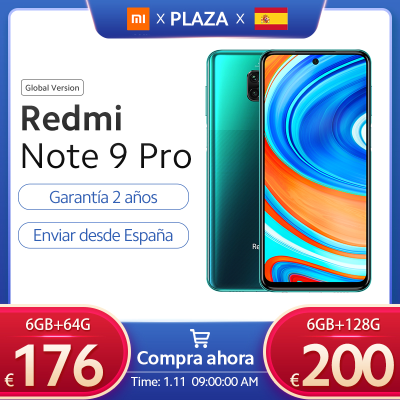 Xiaomi Redmi Note 9 Pro versión global, teléfono móvil de 64GB y 128GB, Snapdragon 720G, cámaras cuádruples IA de 64MP, 5020mAh, 30W, carga rápida, NFC|Teléfonos móviles| - AliExpress