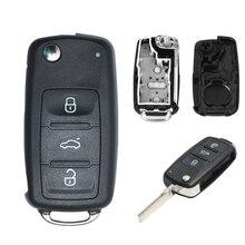 Корпус автомобильного ключа дистанционного управления ключ чехол для VW Caddy Eos Golf Jetta Polo Tiguan для Skoda Rapid превосходным Октавия фабия для Seat ibiza ...