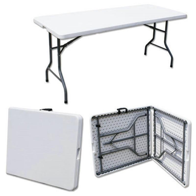 180*74*74cm Multipurpose Folding Table Long Conference Desk Portable Camping Table