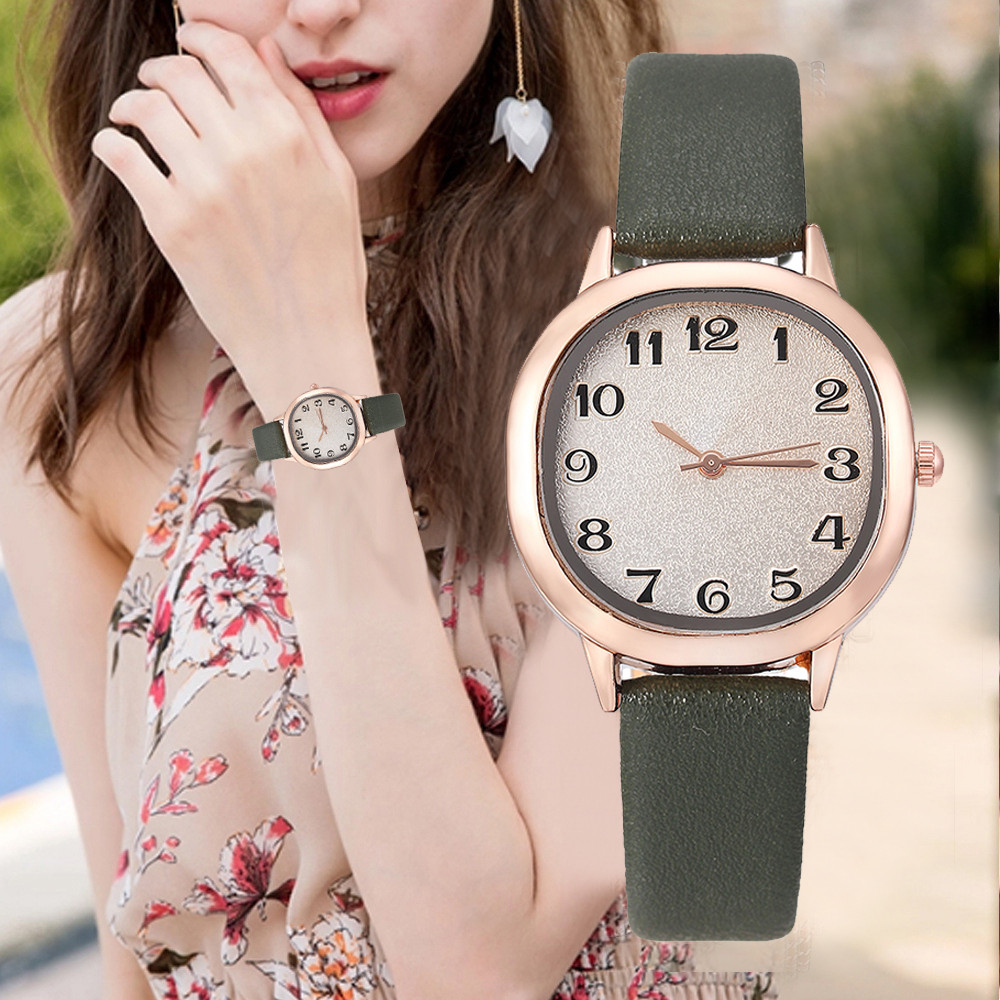 Women Watches Small Delicate Square Dial Ladies Quartz Wristwatch Solid Color Leather Strap Clock Top Brand Montre Femme@50