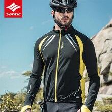 Cycling Clothing Jacket Santic Windproof Jersey Coat Riding Fleece Winter Men