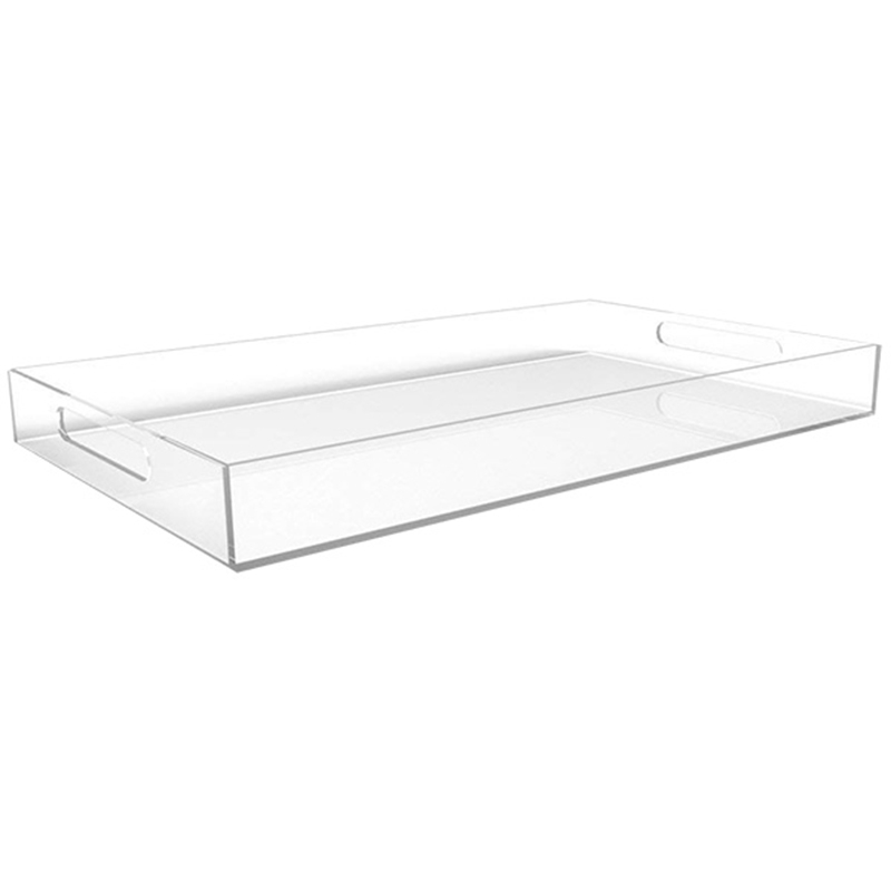 Dish Tray,Made From Acrylic For Coffee Table,Breakfast,Dish,Large Transparent