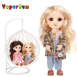 1/8 BJD Doll Moveable Ball Joint Nude doll Fut set Beautiful 3D Eyes Little Girl Pricess Dress Up Toy for Girls Gift Baby Dolls