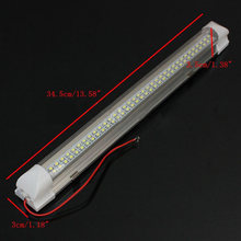 Pair 12V 72 LED Car Interior White Strip Lights Bar Van Caravan ON/OFF Switch D1(China)