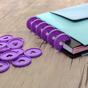Image 5 - 100 Pcs Solid Heart Binderแหวนโน้ตบุ๊ค 24 มม.DIY Happy Plannerแผ่นหลวมใบเห็ดBinderสำหรับScrapbooking a20 S1