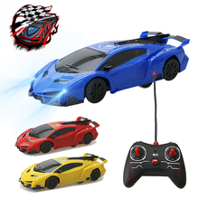 Mini Wall Climbing RC Car drift Lighting Infrared Remote Con