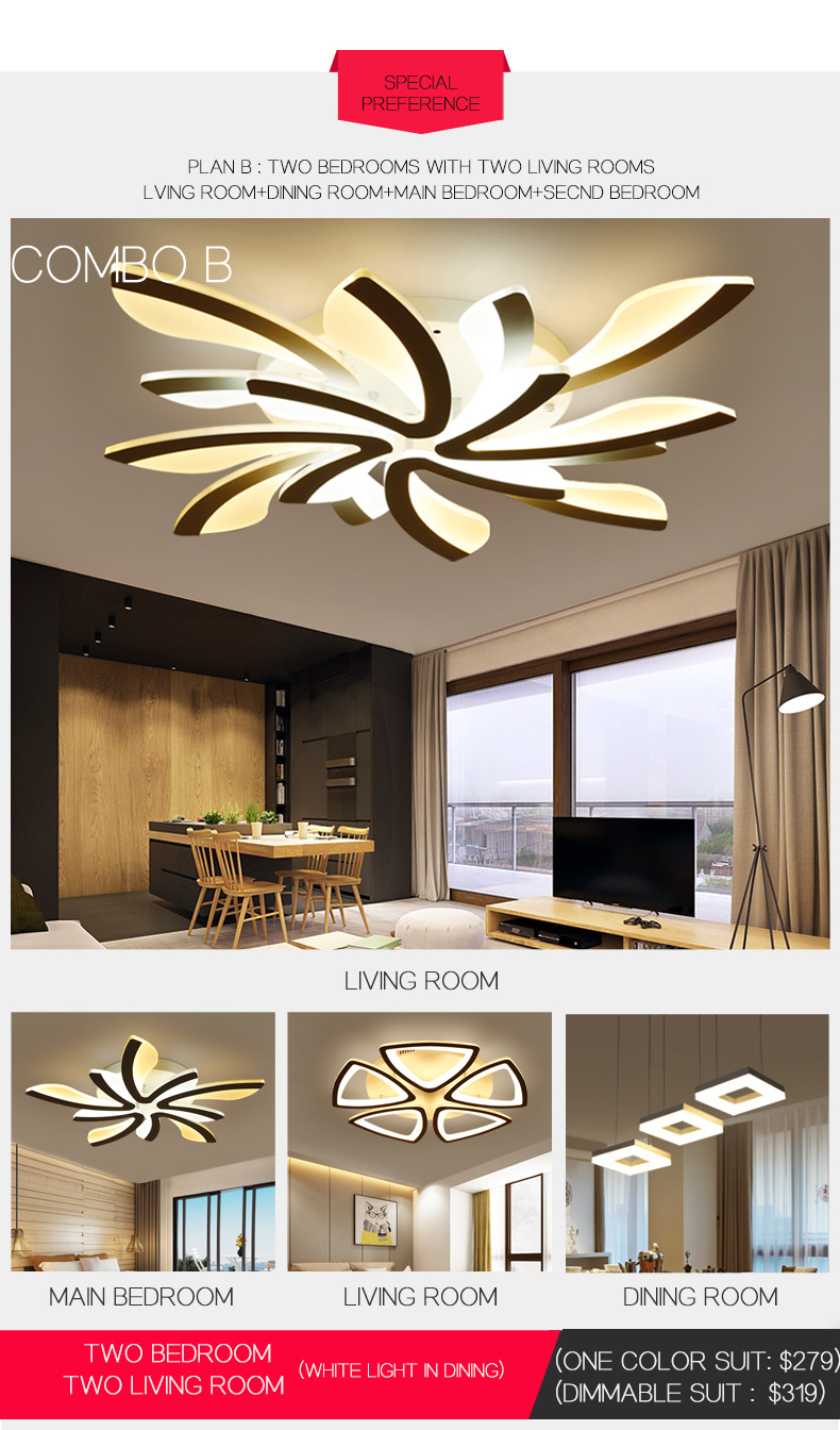 H22d9802cc1bc4cd8baacb1345a22a903j LED Ceiling Lights Dandelion Indoor Ceiling Lamp Modern Simple Post-Modern Living Room Bedroom Dining Room Study Room