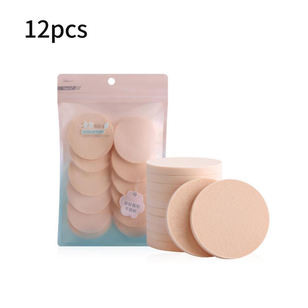 12Pcs Makeup Sponge Pads Beauty Cosmetic Primer Foundation Concealer Soft Breathable Facial Powder Puff Beauty Tools RXJC