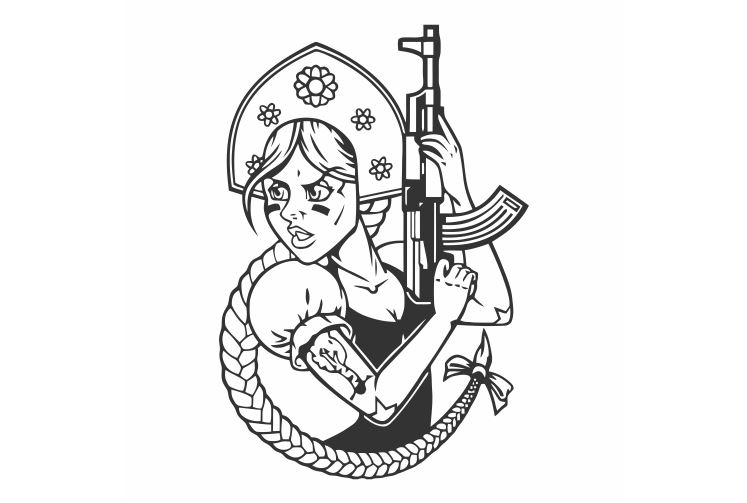 Гламурная девушка с длинными косичками, держит пистолет, автомобильные наклейки для украшения автомобильного выхода, съемный FA629