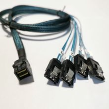 Cable interno de 12 Gb/s HD 36P Mini SAS SFF 8643 SFF 8643 a 4 x SATA 7P para disco duro Cable de línea de transmisión de servidor de datos 0,5/1 metro