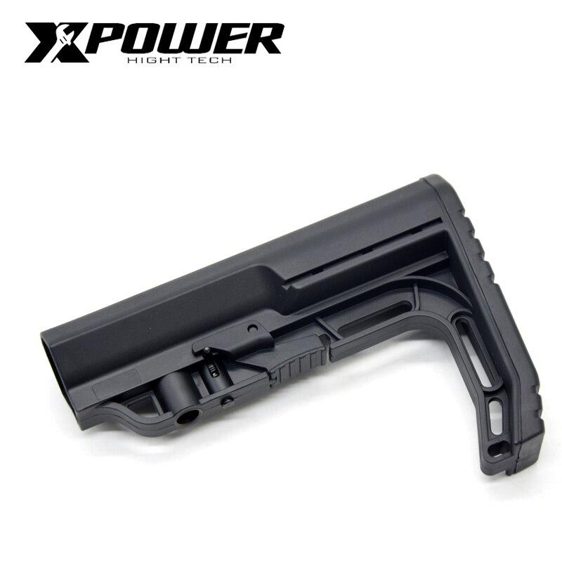 XPOWER Airsoft Stock AEG Accessories Tactical CS Game Outdoor Air Guns Nylon Gel Blaster MOE/FAB-MOD/MK18/CTR/BCM/MFT